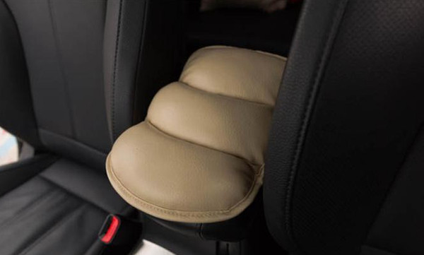 SUV Car Seat Armrest Cushion High Quality Cushion Central Console Storage Cover Soft Leather Car Interior Accessories EEA33
