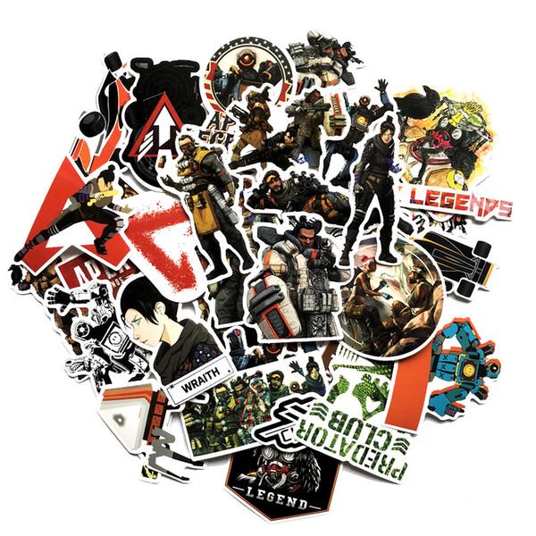 68pcs / lot Apex Legends Stickers Cartoon DIY Stickers Drôle Apex Legends Autocollants Graffiti pour Vélo Ordinateur Portable Téléphone Enfants Cadeau FFA1747