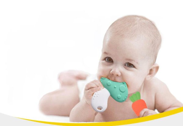 Vegetable Type Silicone Tooth Gel 3 Months & Up Baby Products Teethers Baby Anti-eat hand Health Teeth Chew Free Shipping