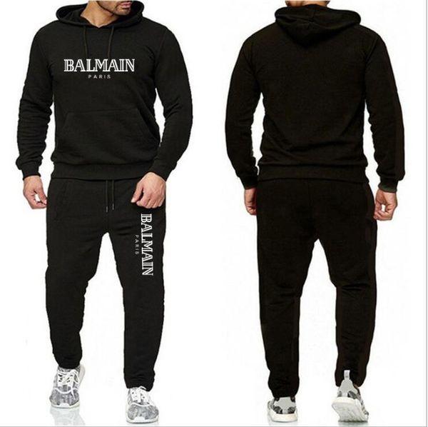 Eşofman İçin Erkekler 2 adet Seti Yeni Moda Ceket Spor Erkek Eşofman Hoodie İlkbahar Sonbahar Elbise Kapüşonlular + Pantolon