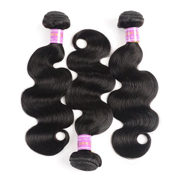 Doğal renkler Vücut Dalga Brezilyalı saç virgin İnsan saç atkı işlenmemiş 8-30 inç Saç uzantıları örgüleri DHL Ücretsiz