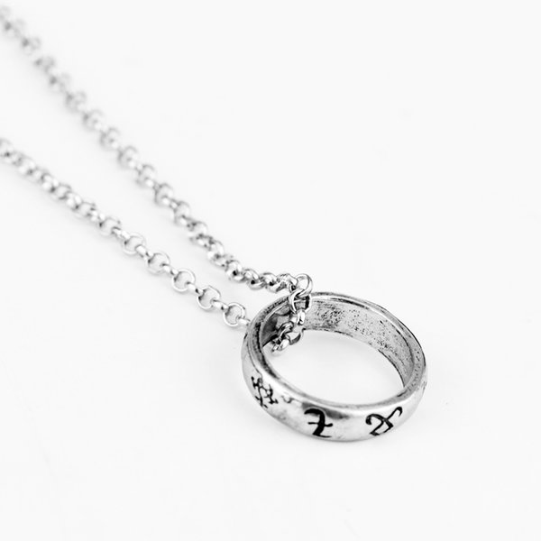 The Mortal Instruments City of Bones necklace vintage Angelic Power Runes Shadowhunters Round Shape pendant for men and women