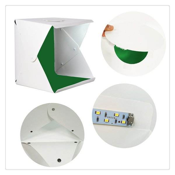 Mini Photo Studio Box Photography Backdrop Built-in Light Photo Box Little Items Photography Box Studio Accessories Free Shipping Hot