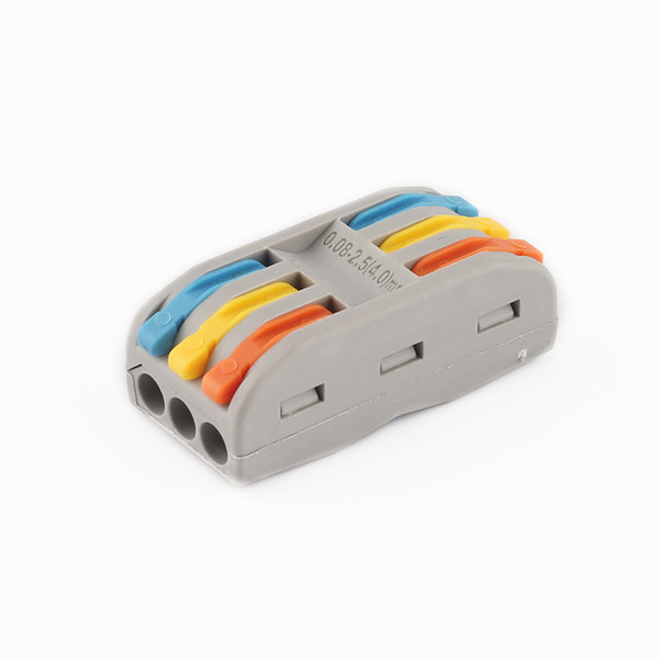 best selling 10PCS LOT 222-413 SPL-3 Compact Wire Connector Conductor Terminal Push-in Terminal Block Universal Wiring Compact Conductors