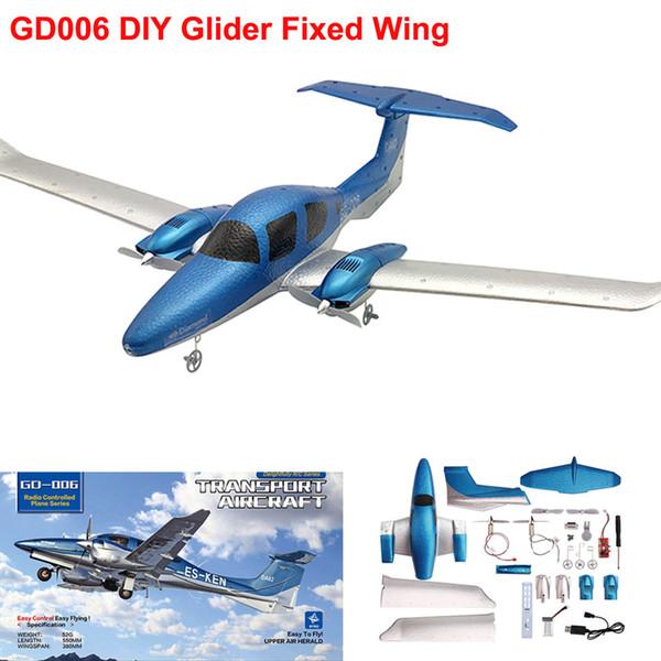 Nuovo aliante di atterraggio dell'elica dell'elica fissa dell'ala di aliante di telecomando GYro 548mm di 2.4G 3-Axis Gyro