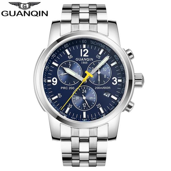 GUANQIN 2019 Automatic Mechanical Clock men Sport 200m Resistant swimming diver waterproof men's watch Relogio Masculino zegarek