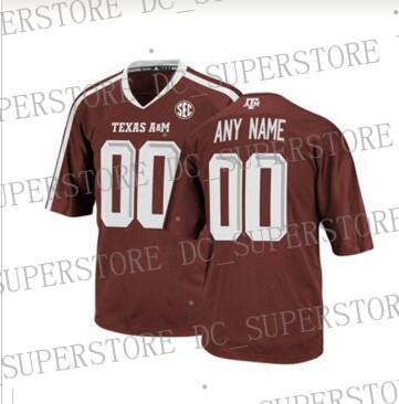Maglia da calcio personalizzata Texas AM Aggies marrone college personalizzata personalizzata Qualsiasi numero nome cucita Jersey XS-5XL