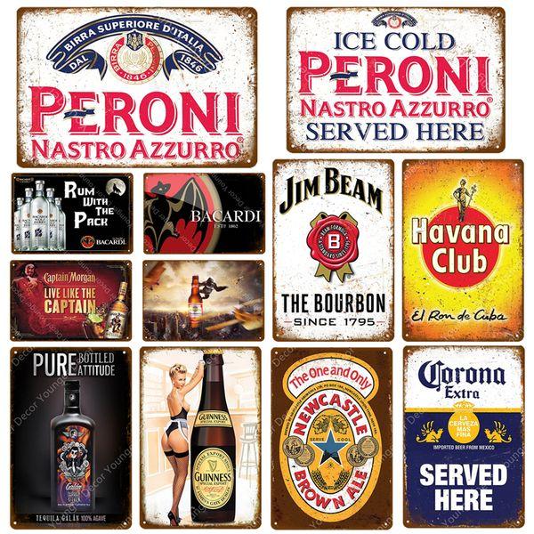Dolce Vino Plaque Guinness Avana Miller metallo dell'annata Targa in metallo Pub poster Wall Decoration Bar Casinò Ricard del vino della birra 2019 vendita calda