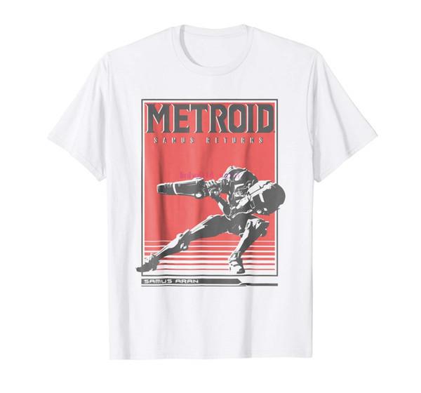 brand men shirt Metroid Samus Returns Side Pose Graphic T Shirt