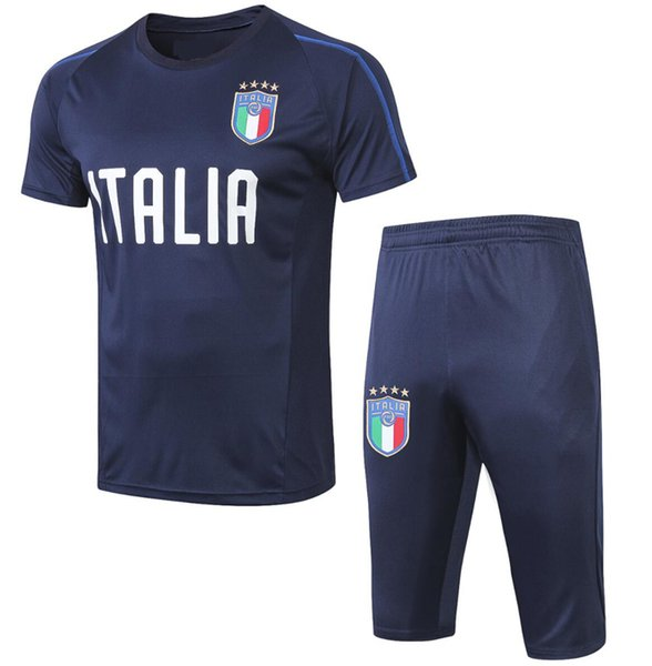 New soccer short sleeve 3/4 patns 2019 milan short sleeve 3/4 patns soccer training 19/20 Italy RONALDO DYBALA football shirt