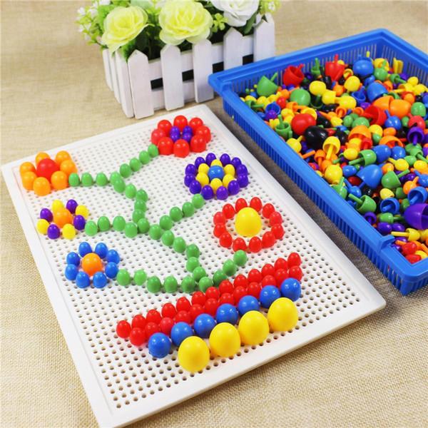 Mushroom Nail Kit Puzzle Juguetes 3D Mosaico Imagen Puzzle 296 unids Niños Niños Regalos de Cumpleaños brinquedos juguetes Juguetes ÚNICOS