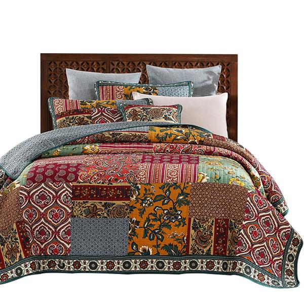 American Patchwork Tagesdecke Quilt Set 3 stücke Vintage gesteppte Bettwäsche Handgemachte Bettdecken König Königin Full Size Bettdecke