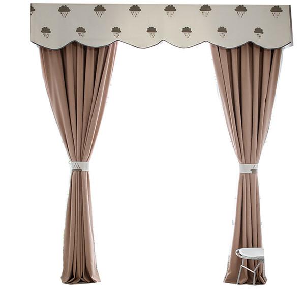 Acheter Joker Simple Moderne Solide Couleur Shading Rideaux Pour Salon Salle à Manger Chambre De 4644 Du Hibooth Dhgatecom