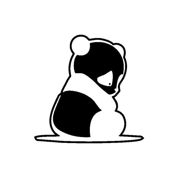 15 * 14.8 см панда наклейка мило и интересно мода наклейка наклейки автомобильные аксессуары мотоцикл шлем стайлинг автомобиля