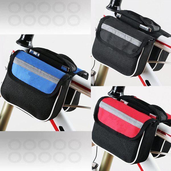 Bicycle Front Frame Bag Cycling Bike Tube Pouch Holder for road bike and mountain Saddle Panniers