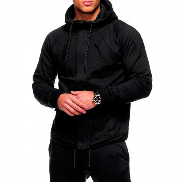 Moda Casual Zipper MJARTORIA 2.019 homens inverno alta qualidade Street Style Outono Encerramento Soild camisola do Hoodie Tops quentes