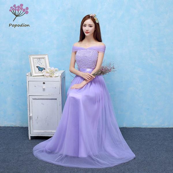 Violeta de dama de honra vestidos longos para convidados do casamento irmã partido vestido formal plus size vestido de baile vestidos foto real