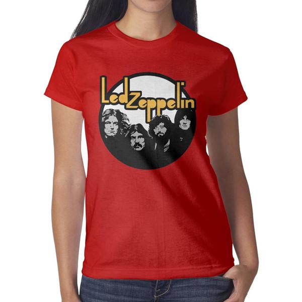 Led Zeppelin logo T-shirts, chemises, t-shirts, t-shirts et tee-shirts femme imprimés blues rock red