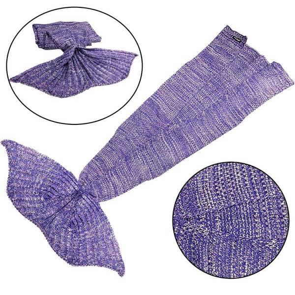 Soft Warm Mermaid Tail Blanket Home Children All Seasons Fish Solid Fashion Bedroom Home, Living Room ,etc Gift