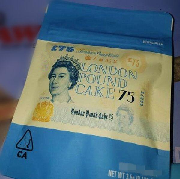 London Pound cake 75 cookies bag