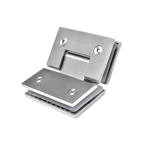top popular 135 Degree Glass To Class Shower Door Hinge Stainless Steel Shower Door Hinges Glass Clamp Hardware 2019