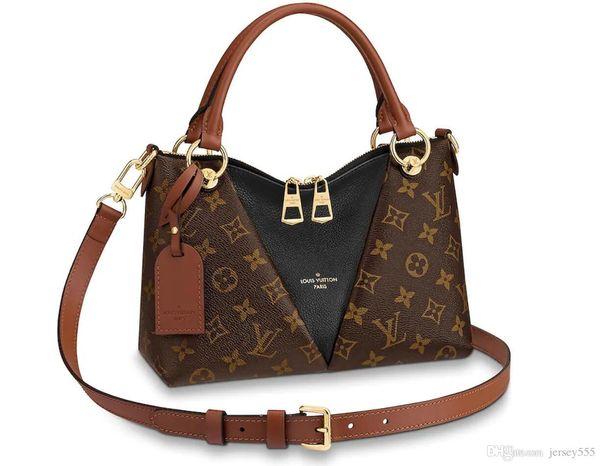 Designer Monogram Sac à main en cuir Empreinte Tous les sacs à main V Tote MM portefeuille sac à dos porte-monnaie sacs à main sacs de luxe de la marque 2019 Original 5A +