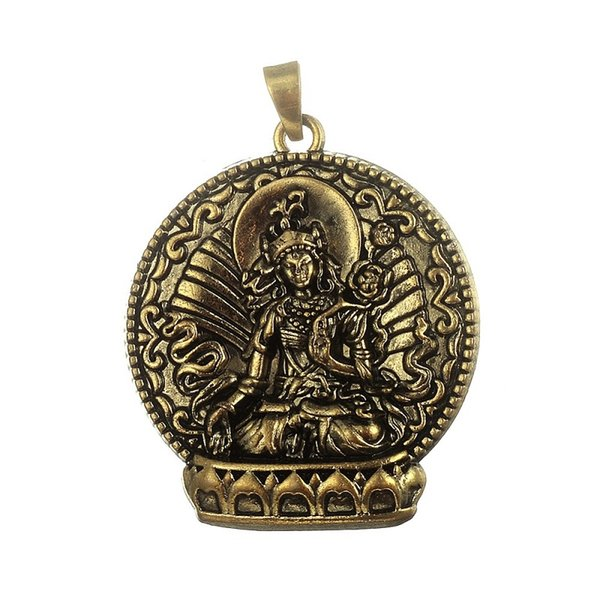 Fishhook Wholesale 4pcs Bronze Plated Buddha Meditation Religious Charm Pendant Fit For Diy Necklace Jewelry Making