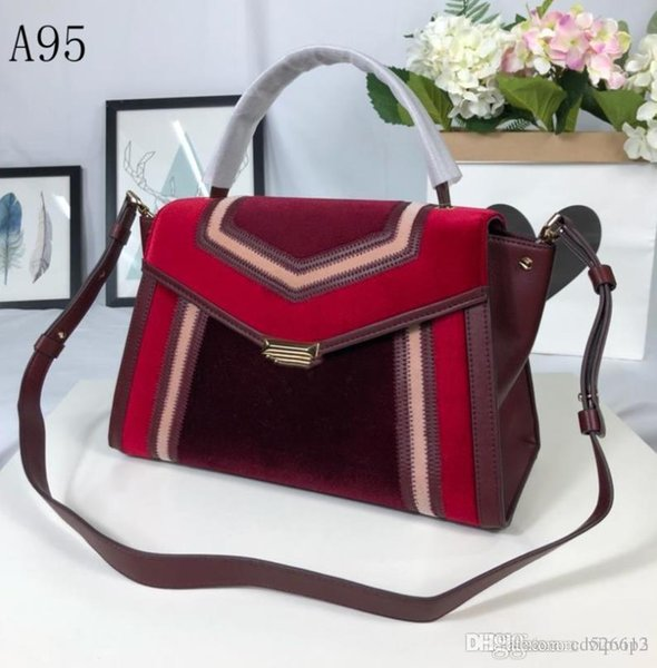 2018 new women's bag [rose] bat ear bag shoulder shoulder diagonal bag wide shoulder strap small size: 28x17x11cm models: 3U390/80
