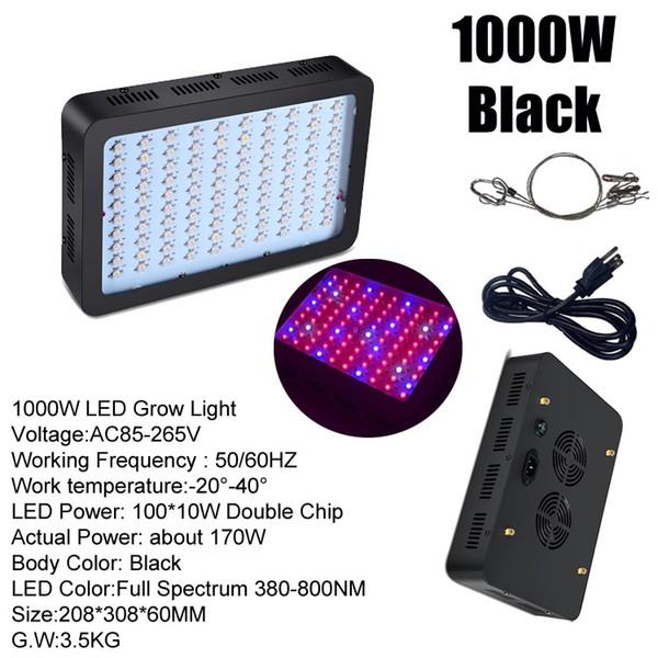 1000W (100 * 10 W) Schwarz Körper