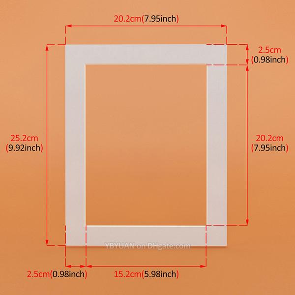 Beyaz dikdörtgen 10x8 inç