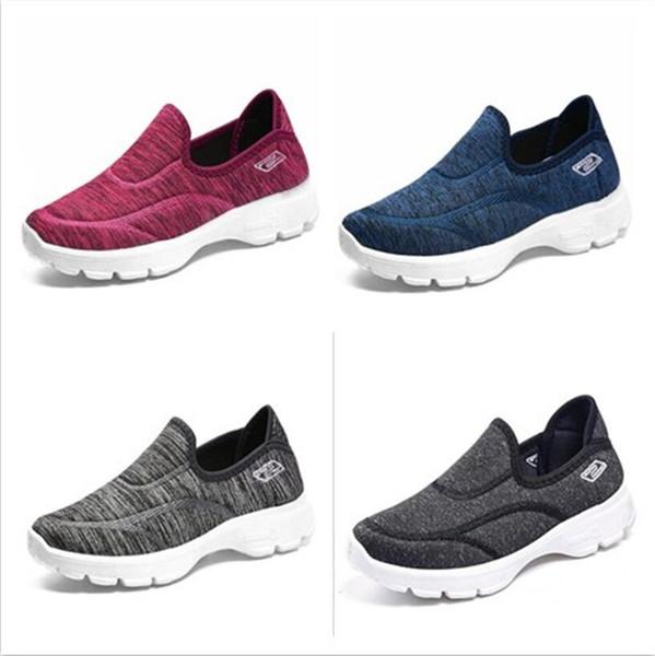 Yeni Çift patlamalar Tembel örgü ayakkabı rahat nefes kaymaz ayakkabı sığ ayakkabı 10 adet Ücretsiz DHL