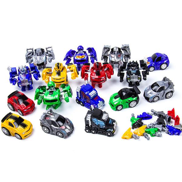 Factory direct supply deformation toy Q version mini-car mini-deformation auto pocket toy