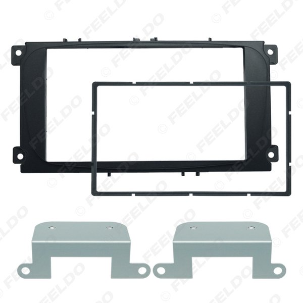 Black Car 2DIN Audio Radio Fascia Frame for Ford Mondeo 2007/C Max Dash Trim Face Plate Panel Kit #1720