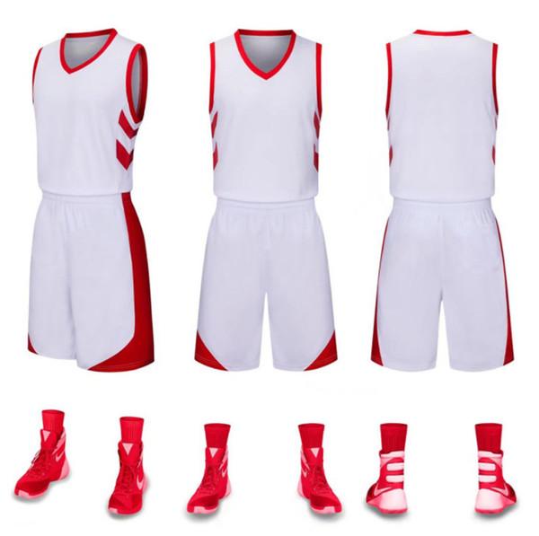 bb79f82ec0936 2018 Uniformes de basket-ball personnalisés enfants adultes costume de  balle adulte basket maillots de match de formation personnalisés gros  absorbez sueur