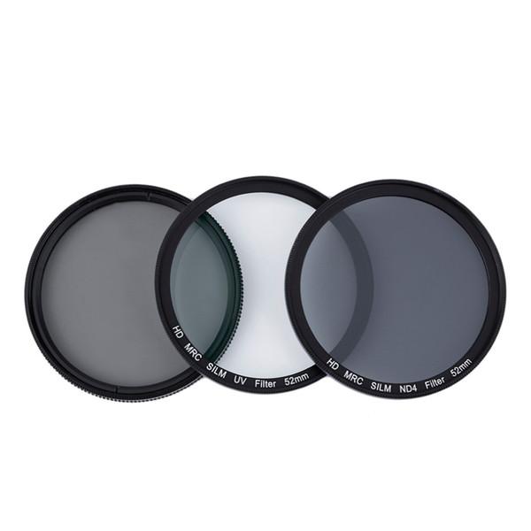 best selling Freeshipping Professional CPL + ND4 + UV Camera Lens Filter Super Slim Neutral Density Photography Lens Filter Kit