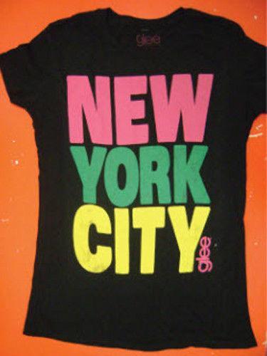 Mens Juniors Music TV Show As Seen On Glee Black New York City T-Shirt Tee Shirt Funny Tee Shirts Hip Hop Short Sleeve
