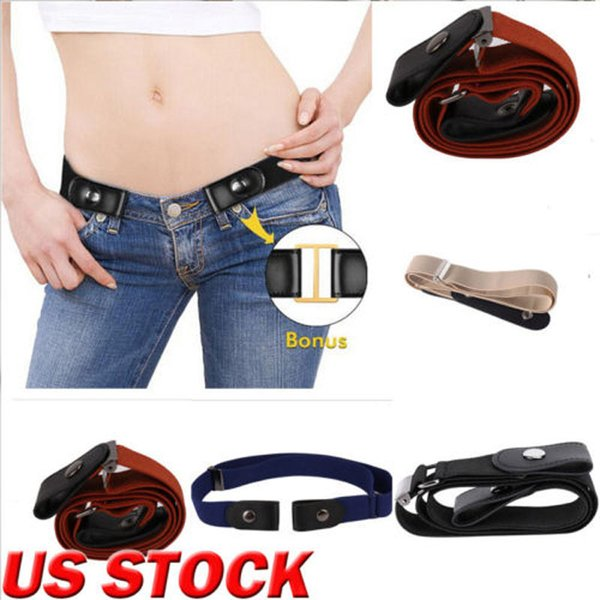 Brand New Fashion Women Lady Classic Buckle-free Waist Belt Elastic Stretch Waistband Xmas Gift Belt
