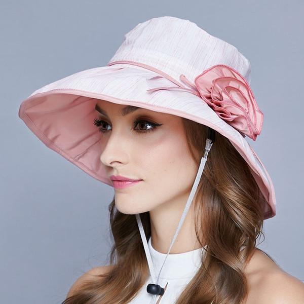 5784108d80941 Sombrero Mujer Sombrero Mujer Verano Versión Coreana Ultravioleta-prueba  Sombrilla Gorra Princesa fría Viento Protector solar Plegable de encaje Sol