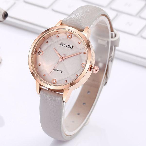 Multicolor Frauen Uhren Casual Quarz Retro Diamant Laides Armbanduhr Lederband Kautschukband Weibliche Uhr Reloj Mujer