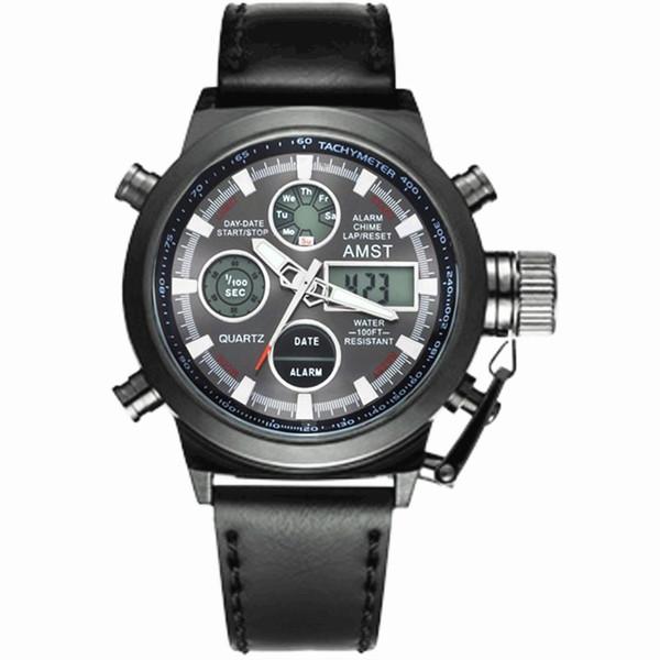 81473e6c2a37 Amst Dive Militar 50 m Correa de Nylonleather Relojes de Los Hombres de  Primeras Marcas de Lujo Reloj de Cuarzo Reloj Hombre Relogio masculino  C19041601