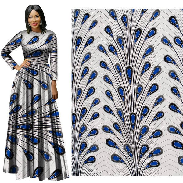 Latest style 100% Cotton African BintarealWax Clothes Dutch Wax 6 yards for party dress african new wax hollandais