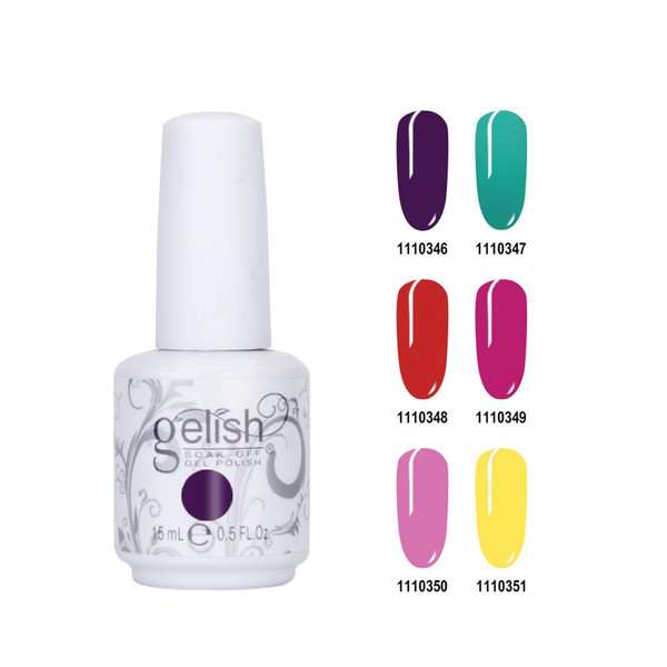 best selling Hot selling Harmony Gelish Nail Polish Soak Off Gelcolor Polish Colors LED UV Gel polish 348 Colors!