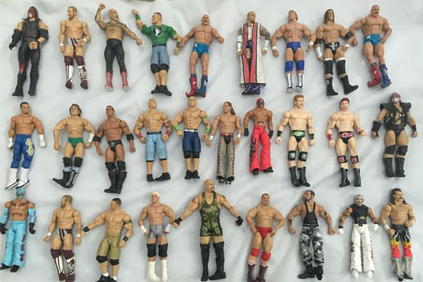 [TOP] 10pcs / lot différents gladiateurs de lutte d'occupation des personnages lutteur figure 18cm Collection jouet figure articulation mobile