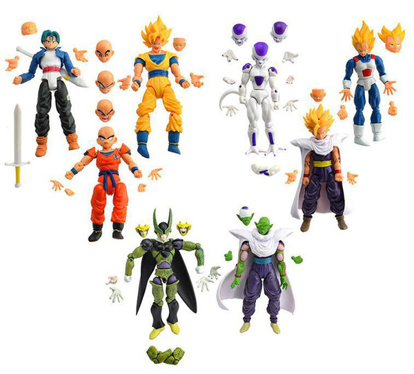 Theatre Version 8 styles dragon ball Monkey King Joint Movable Action Figure children kids christmas birthday gifts
