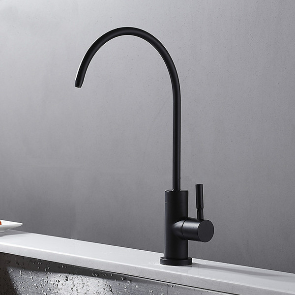 Water purifier Tap Europe style total brass Single Cold kitchen faucet swivel Black kitchen mixer tap,sink tap