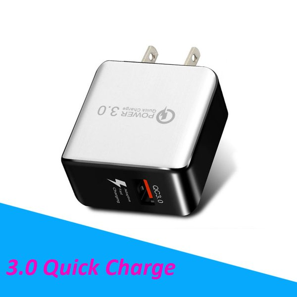 QC 3.0 Fast Wall Charger USB Quick Charge 5V 3A 9V 2A Travel Power Adapter Fast Charging US EU Plug for Huawei P20 PRO iPhone X Galaxy S9