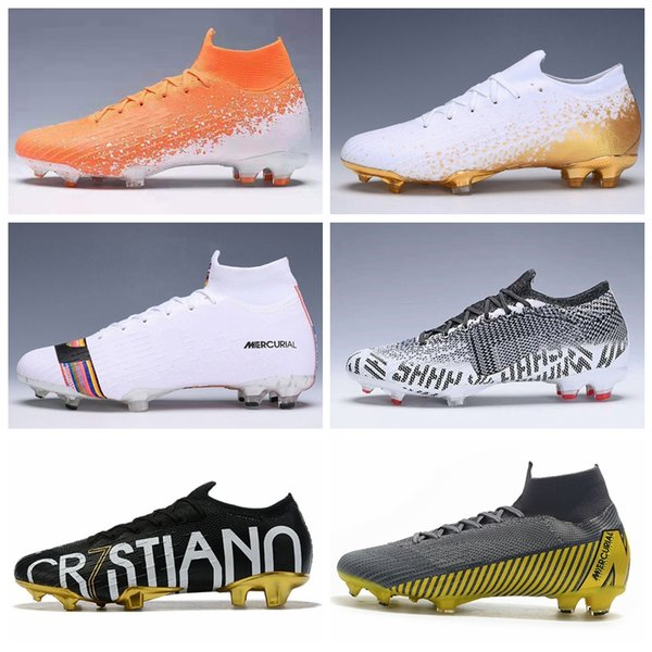 2019 Top Quality Mercurial Superfly Fury VII 360 Elite CR7 kids football boots Soccer Cleats Euphoria Gold LVL UP Game Over Neymar Size35-45