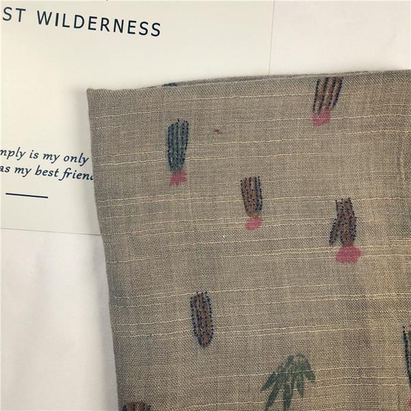 Début de l'automne Nouvelle écharpe de coton pour enfants et lin couleur Cactus Garçons et Filles Bébé 1pcs Collier sauvage