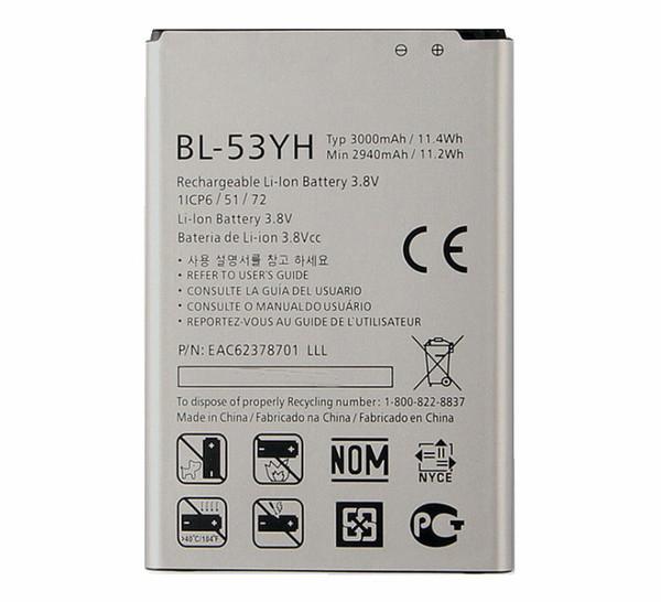 top popular 10pcs 3000mAh Replacement Battery For LG G3 BL-53YH F400 F400K F460 F470 D830 D850 VS985 D850 D851 D852 D855 D857 D858 D859 LS990 2019
