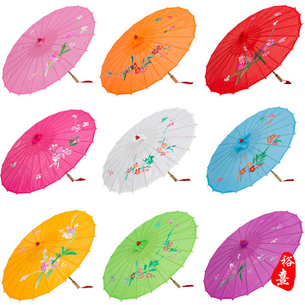 Adults Size Japanese Chinese Oriental Parasol handmade fabric Umbrella For Wedding Party Photography Decoration umbrella props candy colors
